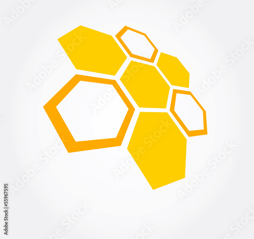 Honeycomb symbol. vector illustration.