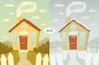 Summer and winter. Vector illustration.