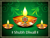 Diwali Card With floral
