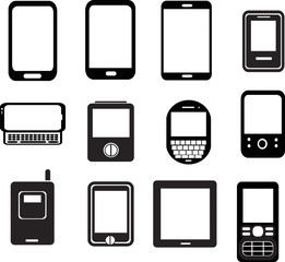 set of mobile phone icons