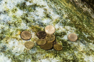 Cents under water