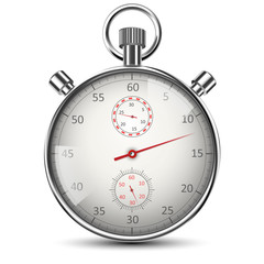 Realistic Stopwatch Isolated on White. Vector illustration