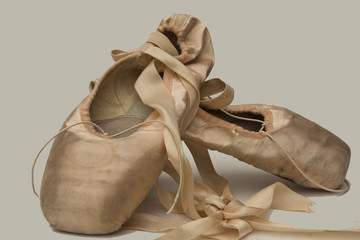 Old Pink ballet shoes