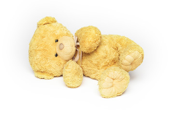 Teddy bear lying