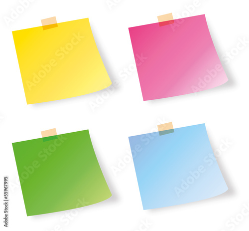 Post-it notes in different colors