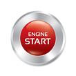 Start Engine button. Red round sticker.