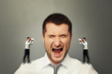 man listening his inner voice