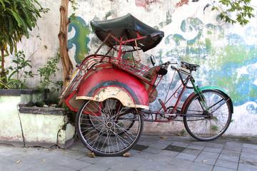 Indonésie - Rickshaw,