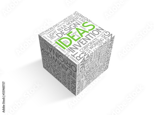 """IDEAS"" Tag Cloud Die (innovation solutions creativity strategy)"