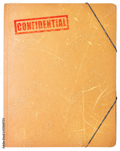 Confidential folder for papers