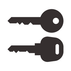 Key and car key symbols