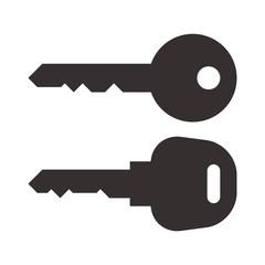 Key and car key symbols