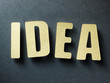 The word Idea on paper background