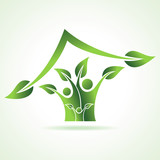 eco family icon make home stock vetor