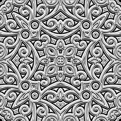 Vintage ornament, monochrome seamless pattern