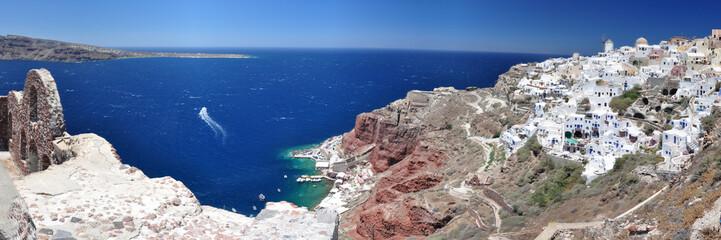 Panoramafoto Vulkaninsel Santorini