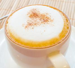 Hot cappuccino