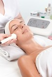 Skin rejuvenating treatment at beauty parlour poster