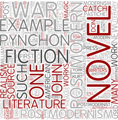 Post-modern literature Word Cloud Concept