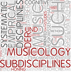 Systematic musicology Word Cloud Concept