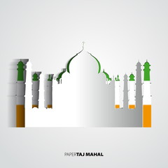 Paper Taj Mahal vector illustration - vector card