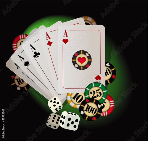 Gambling abstract. Vector.