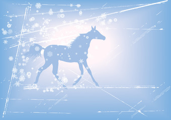 New Year background with horse