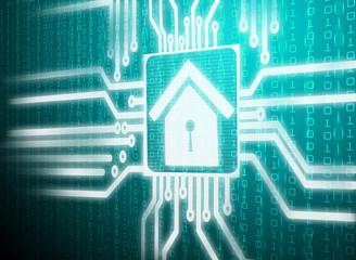 lcd screen matrix circuit of home symbol