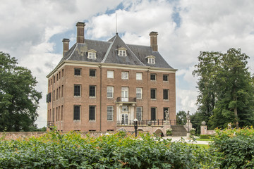 Ancient Dutch Castle in Amerongen