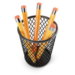 holder with pencils