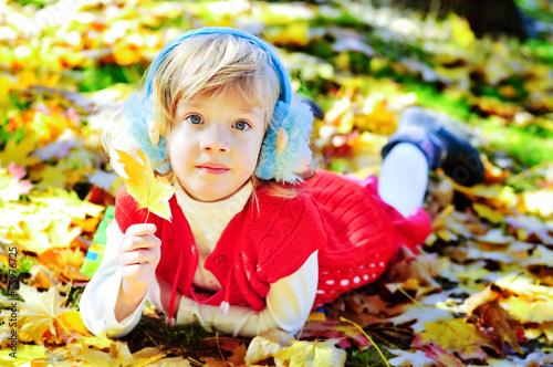 little girl meeting autumn