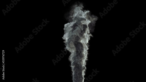 super detailed backlit smoke rising from object