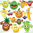 Funny Cartoon Fruits. Colorful Clip art