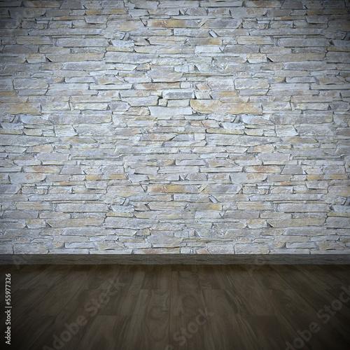 natursteinwand wohnzimmer bilder fototapete natursteinwand mit dunklem holzfuboden