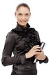 Elegant businesswoman with personal organizer