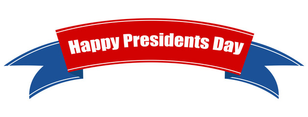 Presidents Day Ribbon Banner Vector