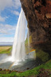Seljalandsfoss -  waterfall in Iceland.