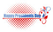 Happy Presidents Day Greeting Text Over Halftone
