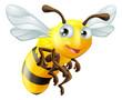 Obrazy na płótnie, fototapety, zdjęcia, fotoobrazy drukowane : Cartoon Bee