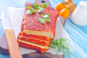 lard with paprika and other spice