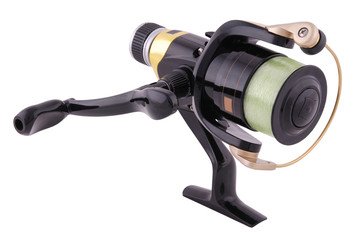 fishing reel (Clipping path)