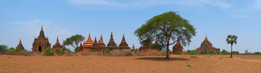 Buddhist Temples in Bagan, panorama