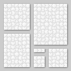 Puzzle Set - weiß - 6 Puzzle