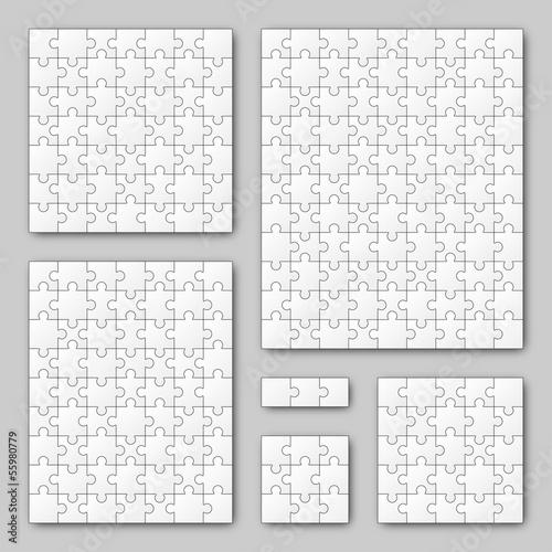 Puzzle Set - weiß - 6 Puzzle - 55980779