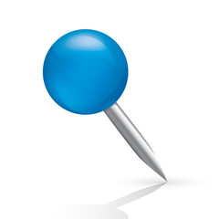 Pushpin icon isolated on white background.