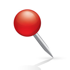 Pushpin icon isolated on white background