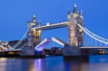 Tower Bridge at Dusk in London