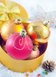 christmas decoration and box for present