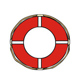 lifebuoy vector illustration
