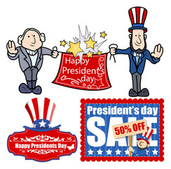 Presidents Day Vector Set Graphics